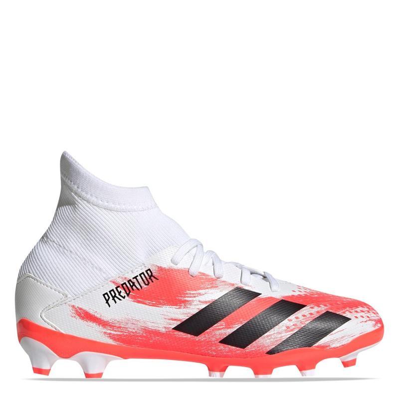 Adidas Pred 20.3 MG Junior Boys Football Boots White/Black