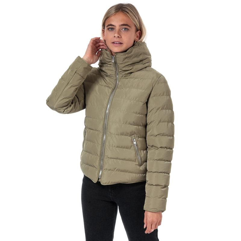 Tokyo Laundry Womens Quince Quilted Puffer Jacket Taupe