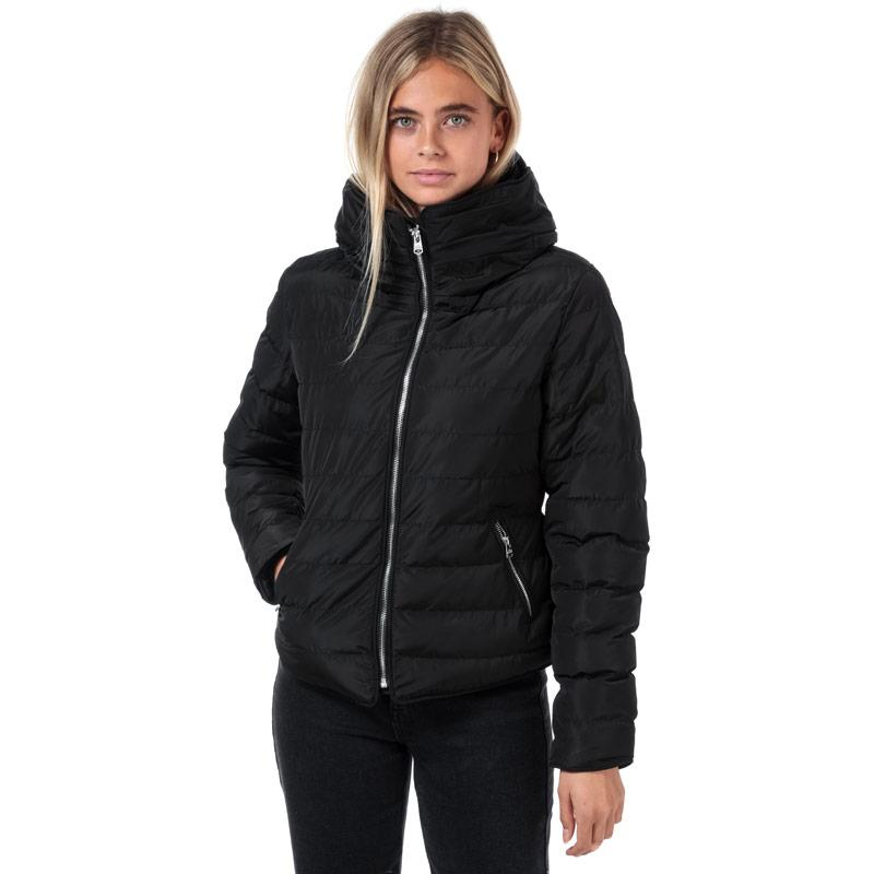 Tokyo Laundry Womens Quince Quilted Puffer Jacket Black