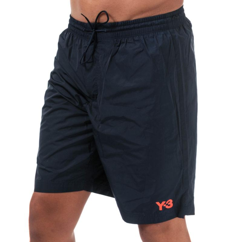 Y-3 Mens Classic Terry Shorts Navy
