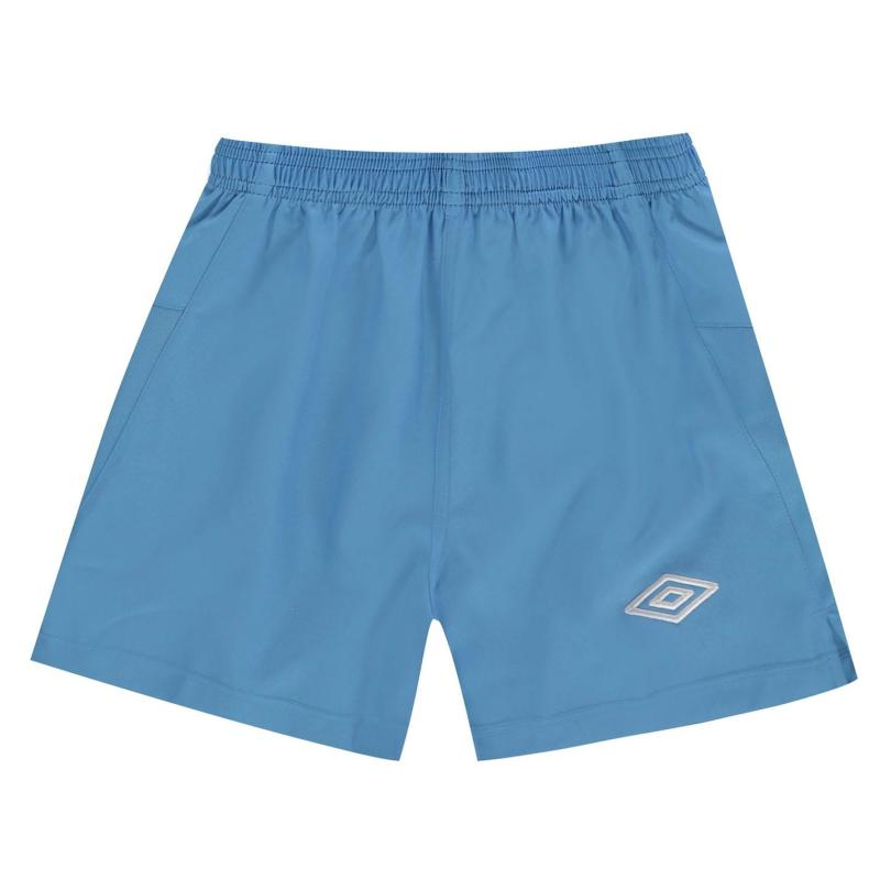 Kraťasy Umbro Team Football Shorts Sky/White