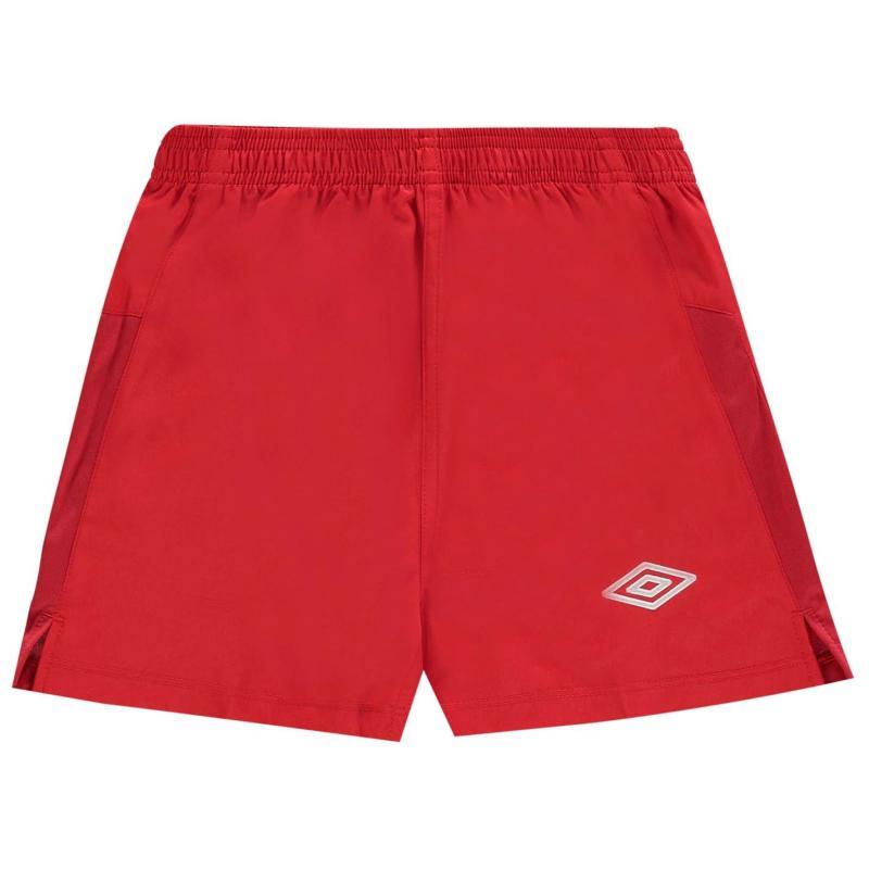 Kraťasy Umbro Team Football Shorts Vermillion/Whit