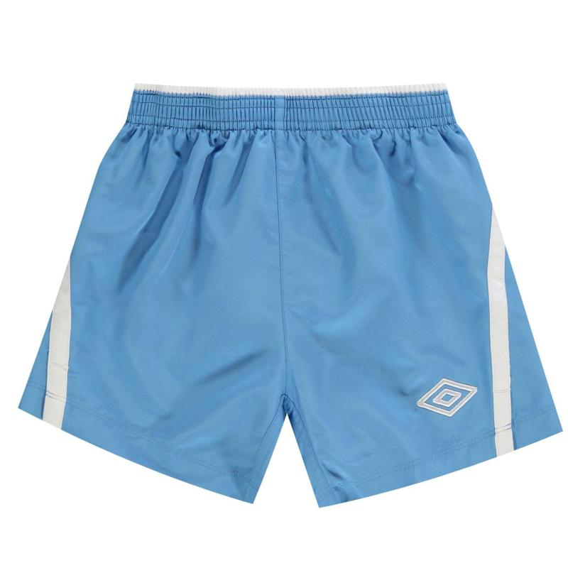Kraťasy Umbro Team Shorts Junior Sky/White