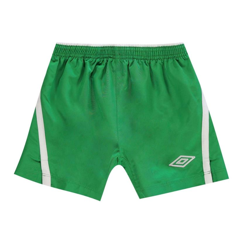 Kraťasy Umbro Team Shorts Junior Emerald/White