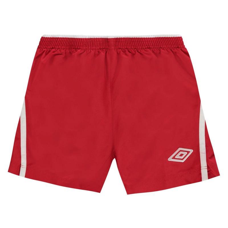 Kraťasy Umbro Team Shorts Junior Vermillion/Whit