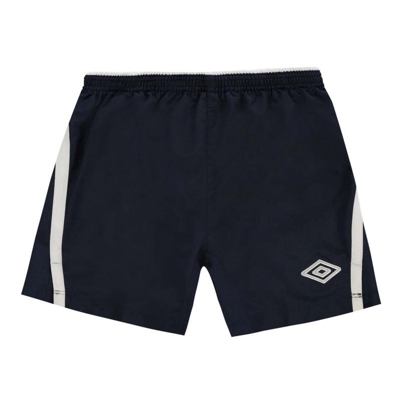 Kraťasy Umbro Team Shorts Junior Dark Navy/White