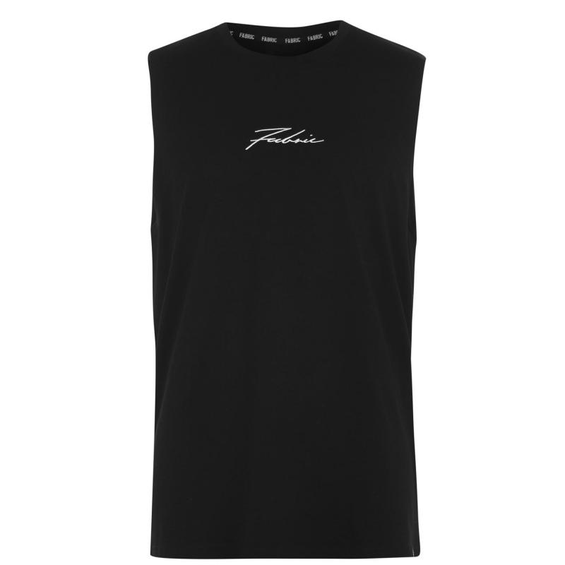 Tílko Fabric Sleeveless Vest Mens Black