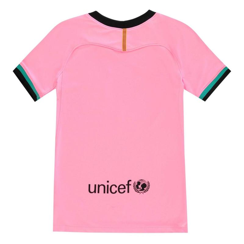 Nike Barcelona Third Shirt 2020 2021 Junior PINK BEAM/BLACK