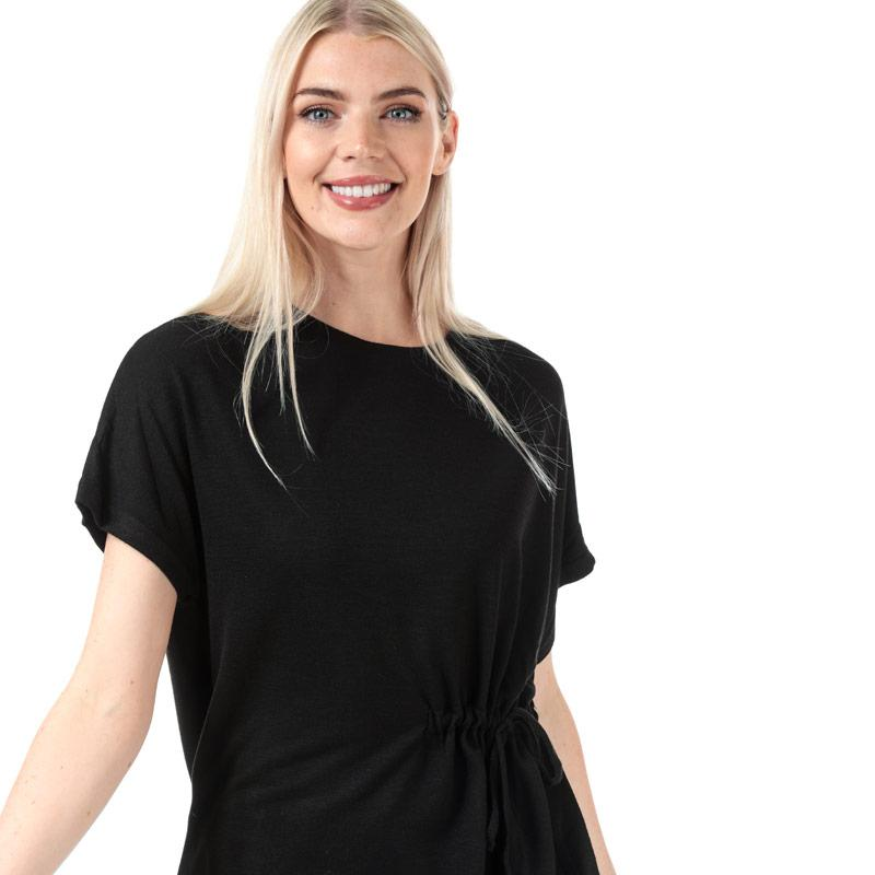 Brave Soul Womens Drawstring Waist T-Shirt Black