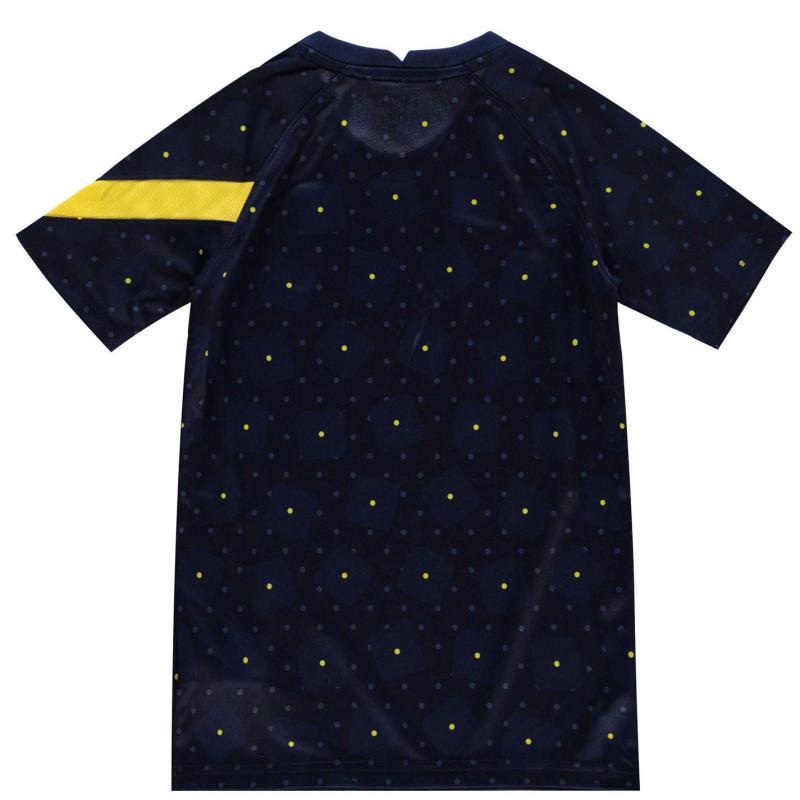 Nike Tottenham Hotspur European Pre Match Shirt 2020 2021 Junior BINARY BLUE/TOUR YELLOW/TOUR Y