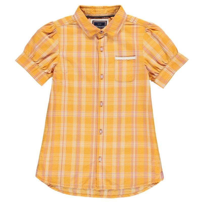 SoulCal Sleeve Shirt Sunflower Check