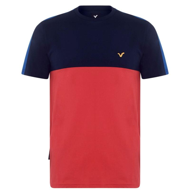 Tričko VOI Bergamo T Shirt Mens Red/Navy