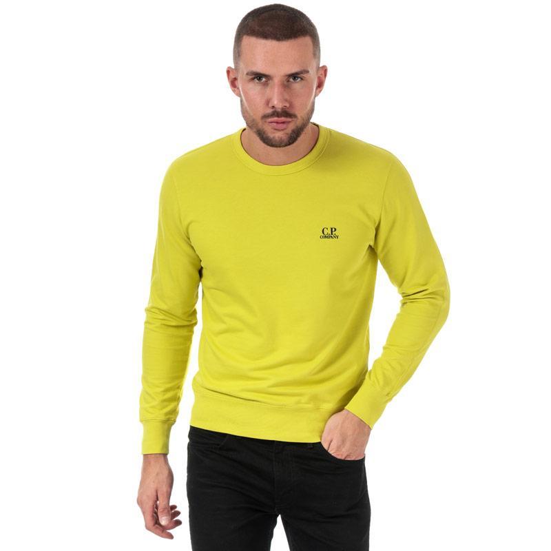 Mikina C.P. Company Mens Light Fleece Crew Neck Sweatshirt Yellow