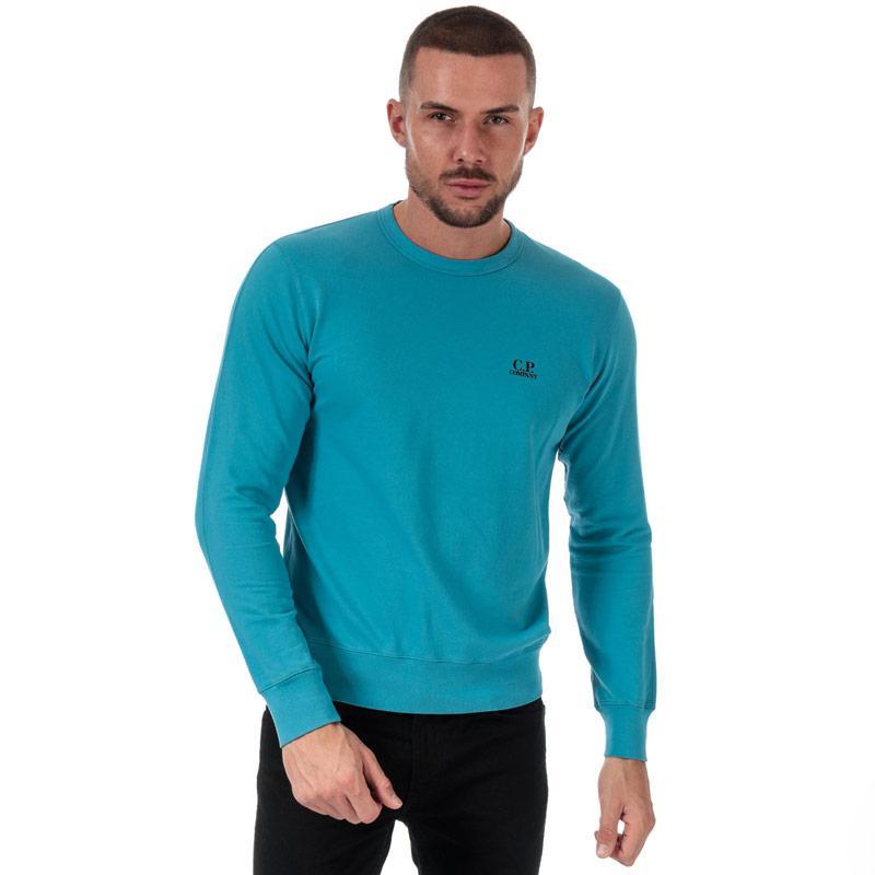 Mikina C.P. Company Mens Light Fleece Crew Neck Sweatshirt Light Blue
