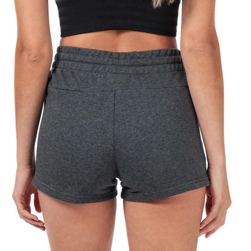 Adidas Womens Essentials Linear Logo Shorts Charcoal Marl