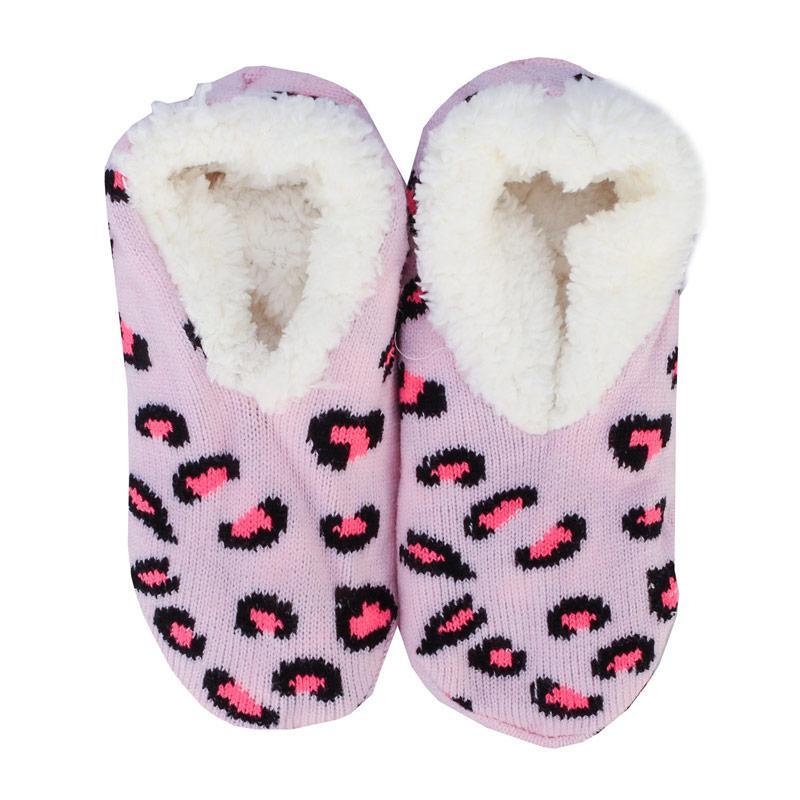Brave Soul Womens Safari Slipper Socks Pink