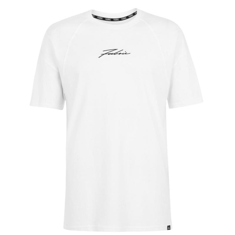 Fabric Large Logo T Shirt Ladies White