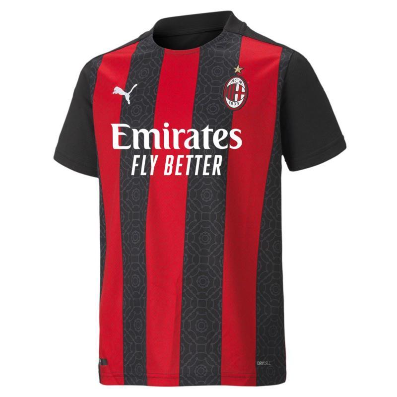 Puma AC Milan Home Shirt 2020 2021 Junior Red/Black