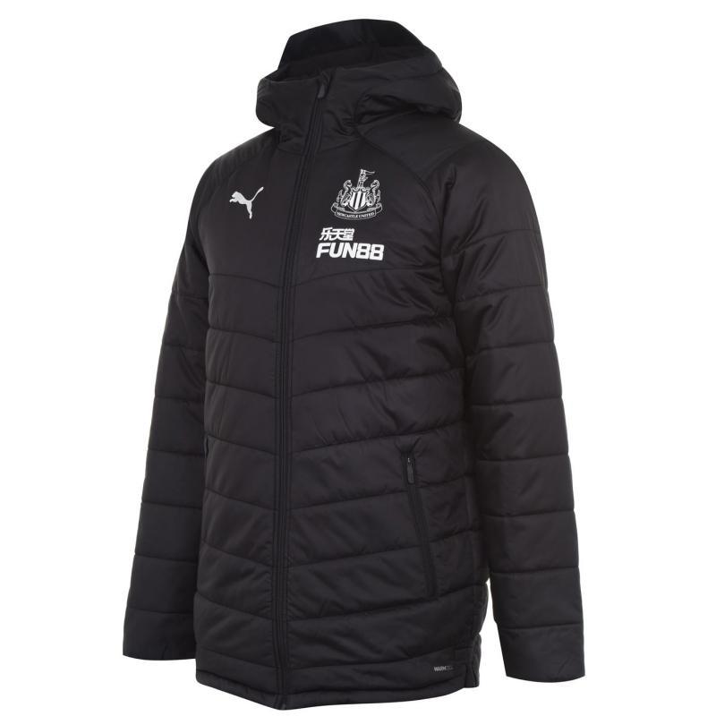 Puma Newcastle United Bench Jacket 2020 2021 Mens Black/White