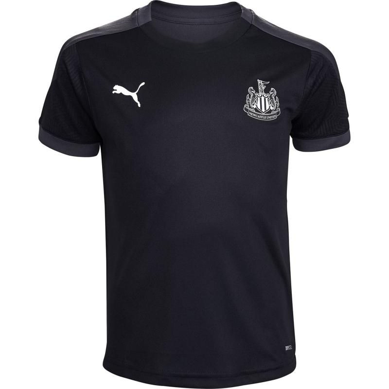 Puma Newcastle United Training Top 2020 2021 Junior Black/Asphalt