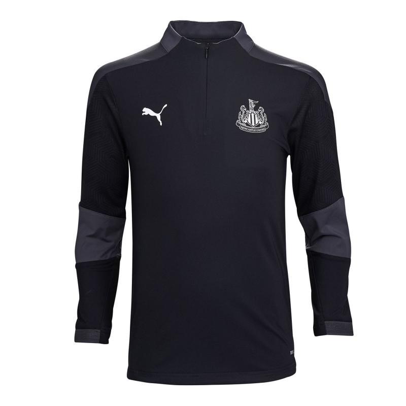 Puma Newcastle United Zip Training Top 2020 2021 Black/Asphalt