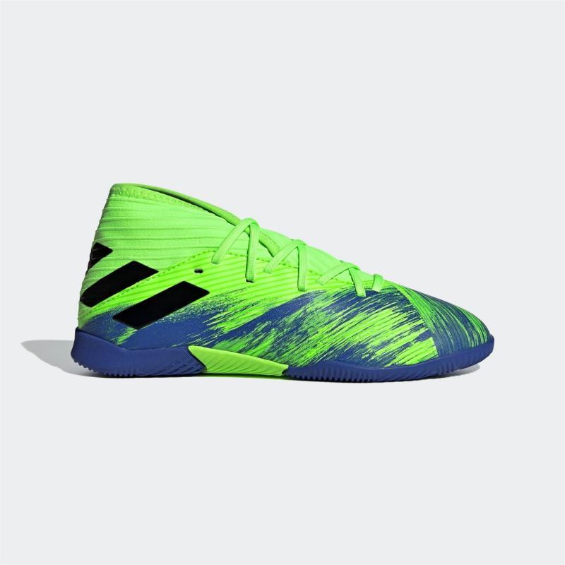 Adidas Nemeziz 19.3 Junior Indoor Football Trainers Green/Black/Blu
