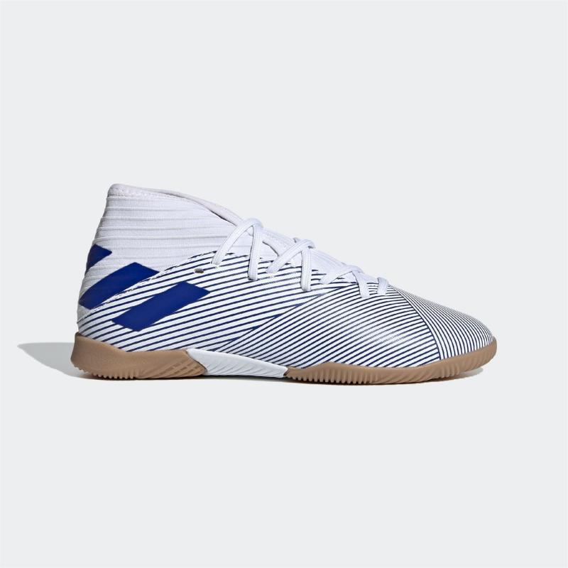 Adidas Nemeziz 19.3 Junior Indoor Football Trainers White/Blue/Blk