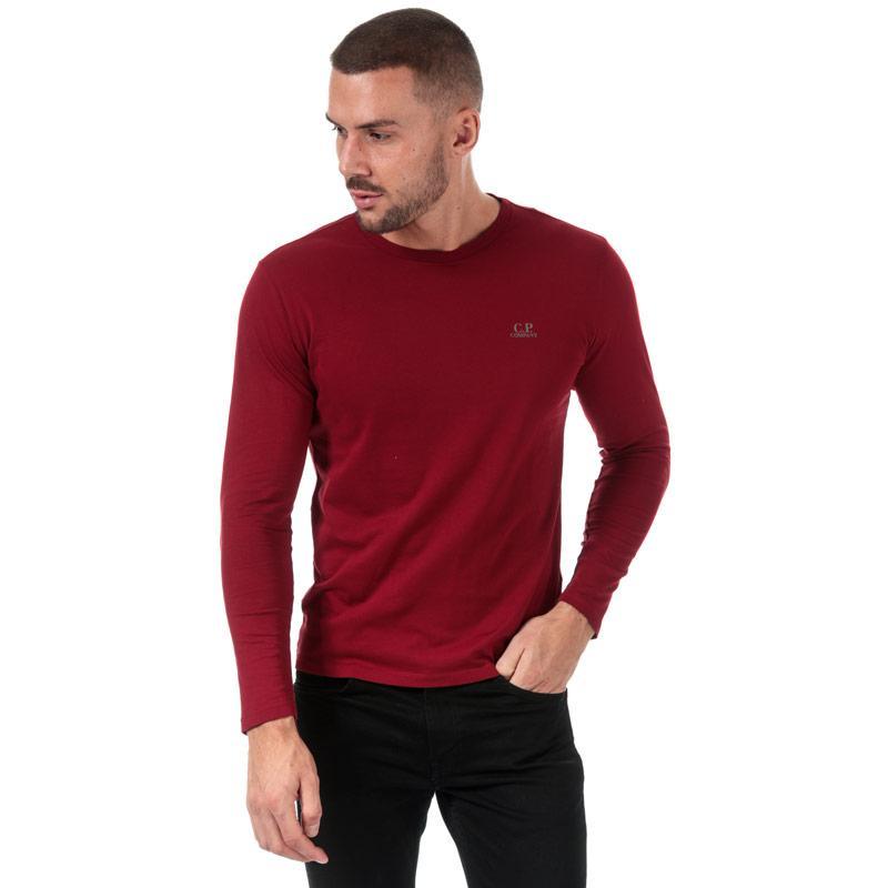 C.P. Company Mens J Dimond Logo Long Sleeve T-Shirt Red