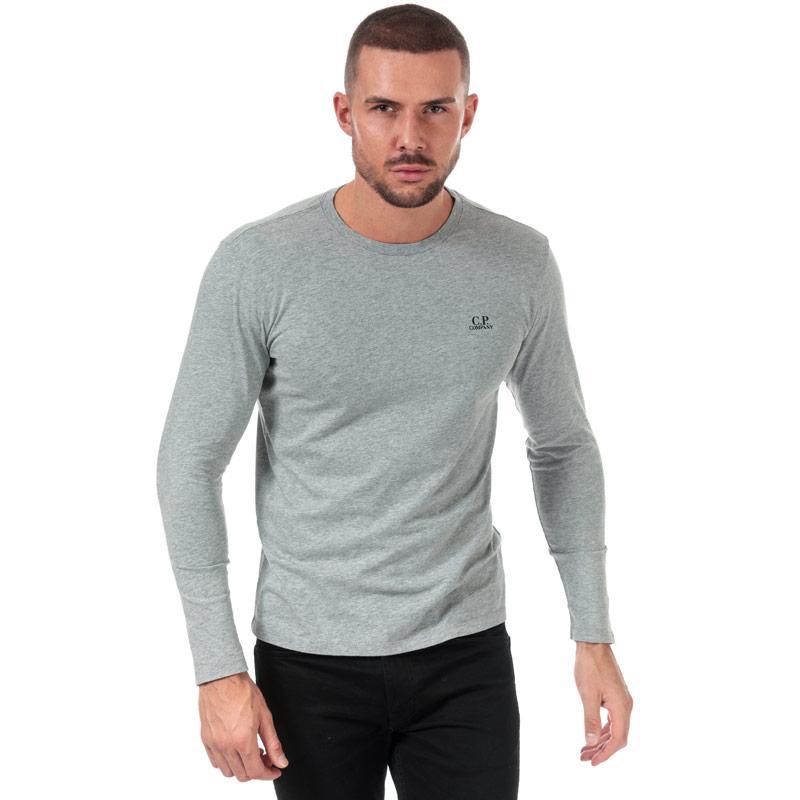 C.P. Company Mens J Dimond Logo Long Sleeve T-Shirt Grey