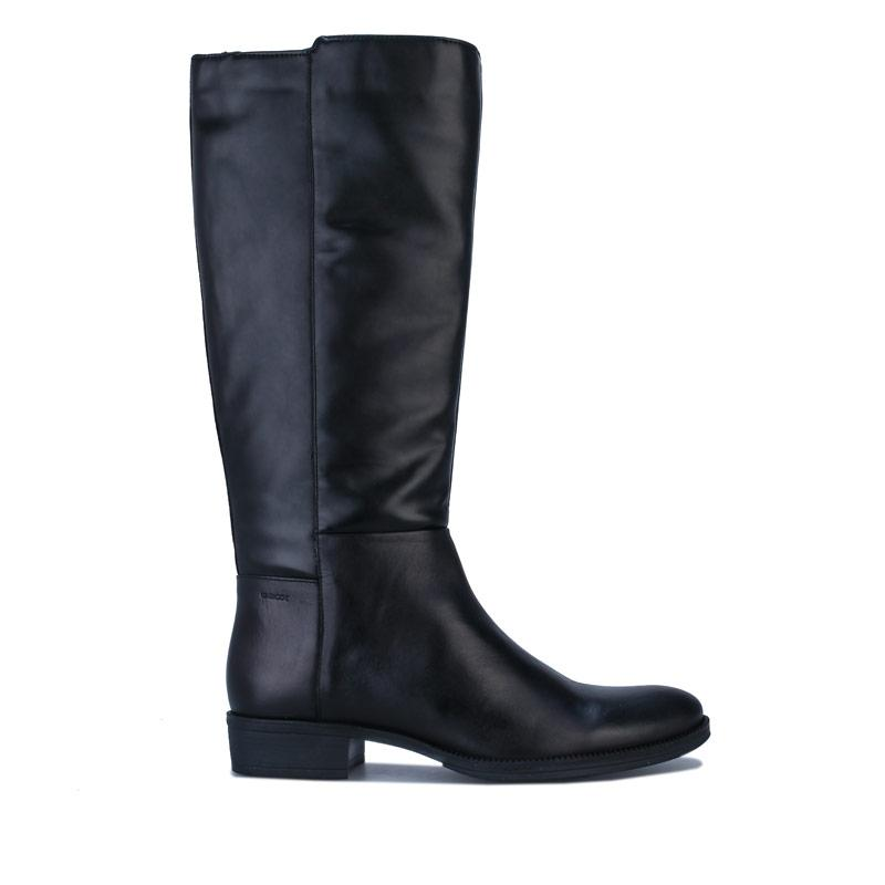 Geox Womens Laceyin Knee High Boots Black