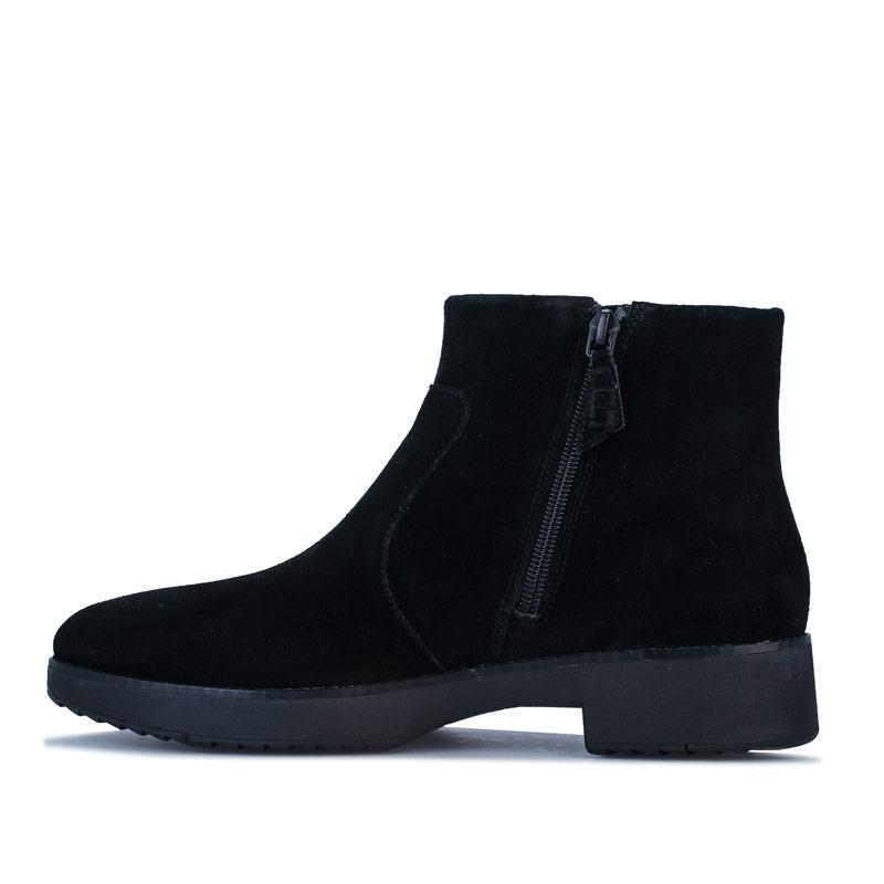 Fit Flop Womens Maria Suede Ankle Boots Black