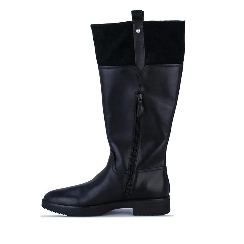 Fit Flop Womens Signey Mixte Leather Knee High Boots Black