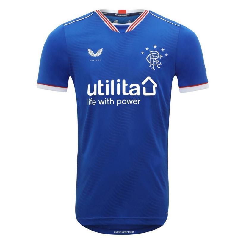 Castore Rangers Home Shirt 2020 2021 Junior Blue