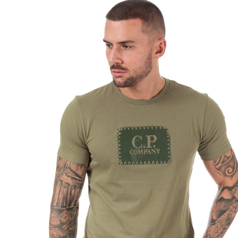 Tričko C.P. Company Mens Box Logo T-Shirt Green