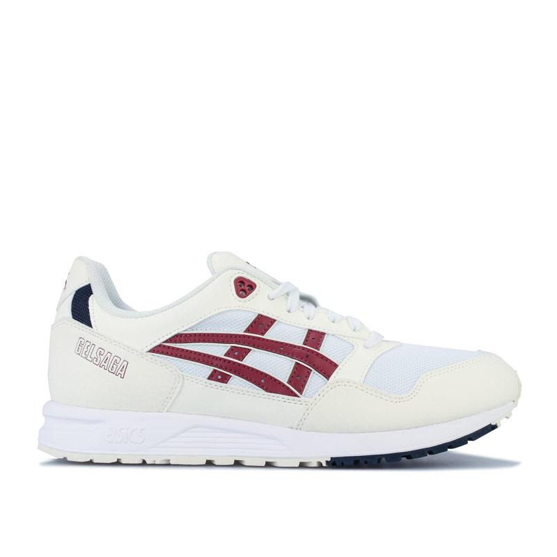 Asics Mens GELSAGA Trainers White red