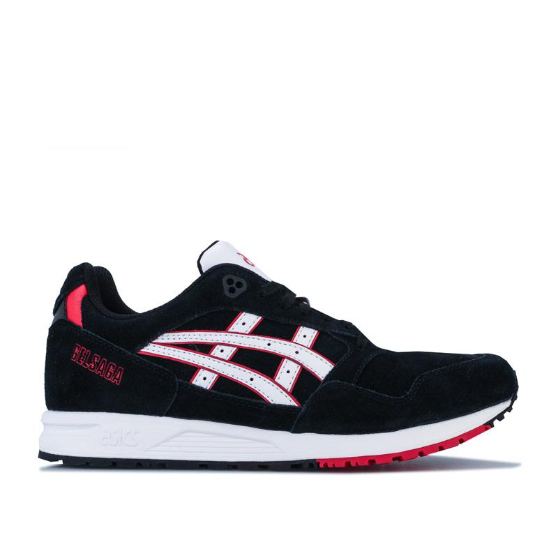 Asics Mens GELSAGA Trainers Black-White