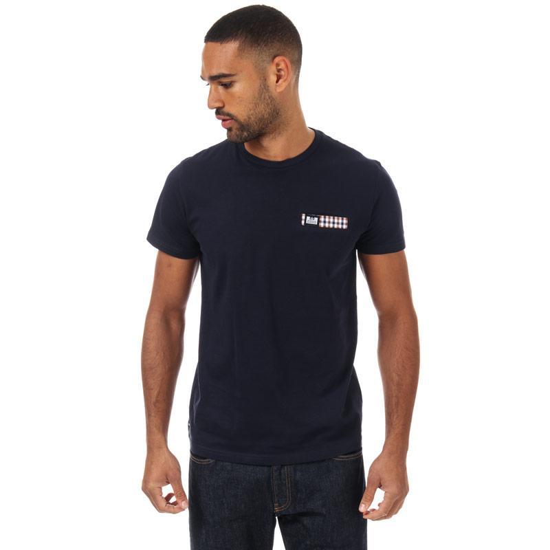 Tričko Weekend Offender Mens Hopper Check Pocket T-Shirt Navy