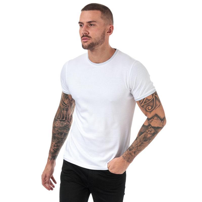 Tričko Ted Baker Mens Pik Crew Neck Cotton T-Shirt White