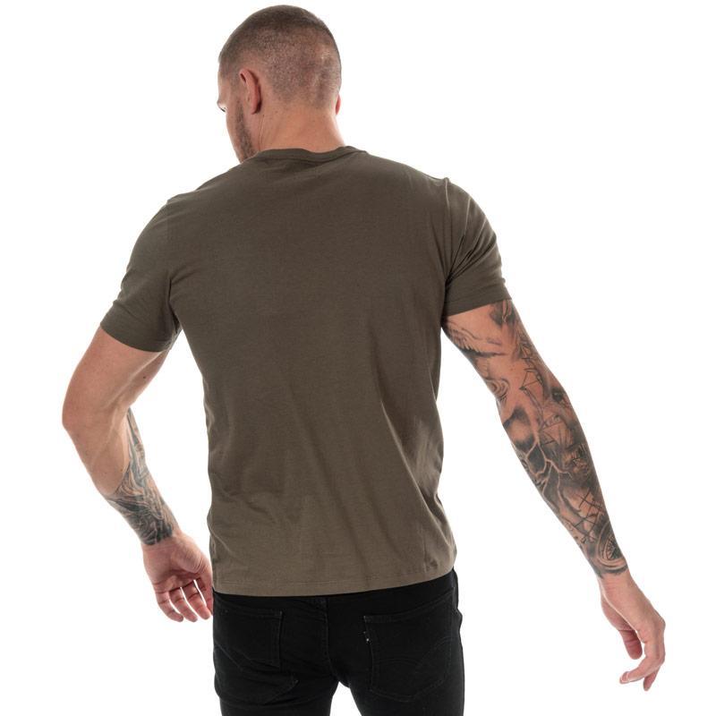Tričko C.P. Company Mens Printed Goggle T-Shirt Green