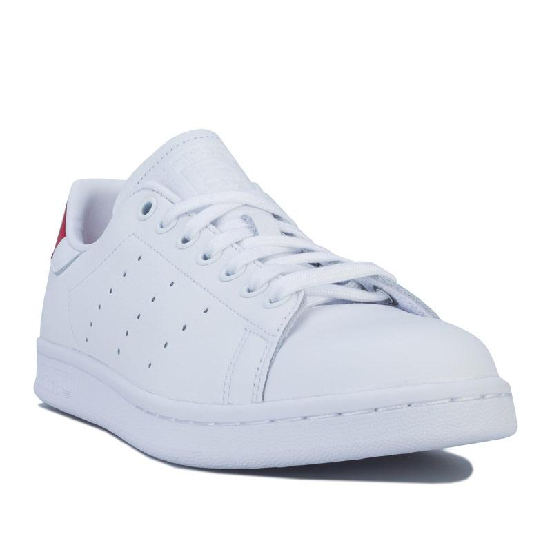 Adidas Originals Mens Stan Smith Trainers White red