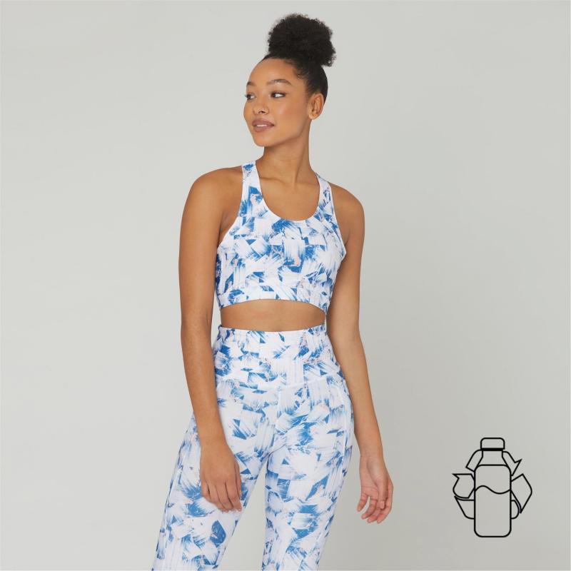 SportFX ECO Print Sports Bra Ladies Blue Print