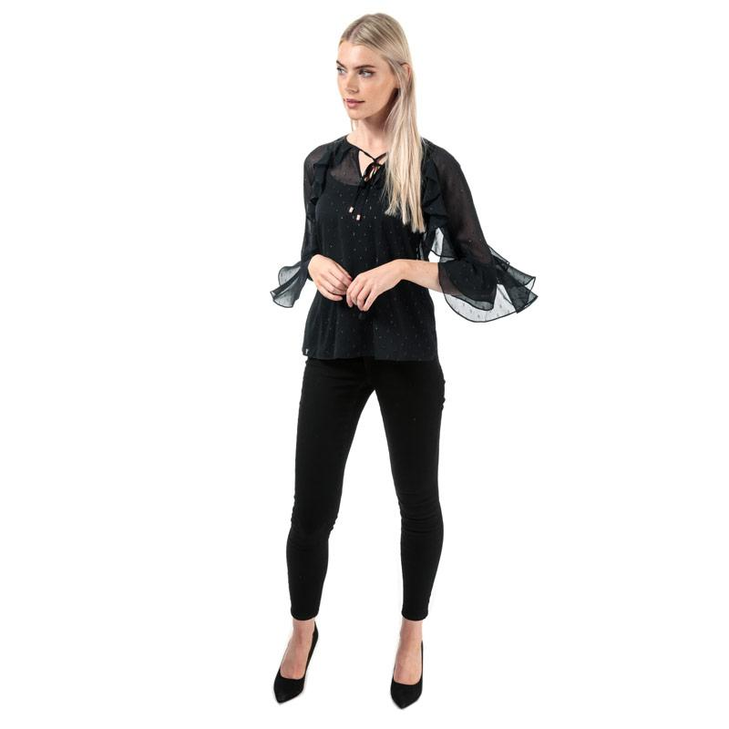 Only Womens Wauw Life Skinny Jeans Black