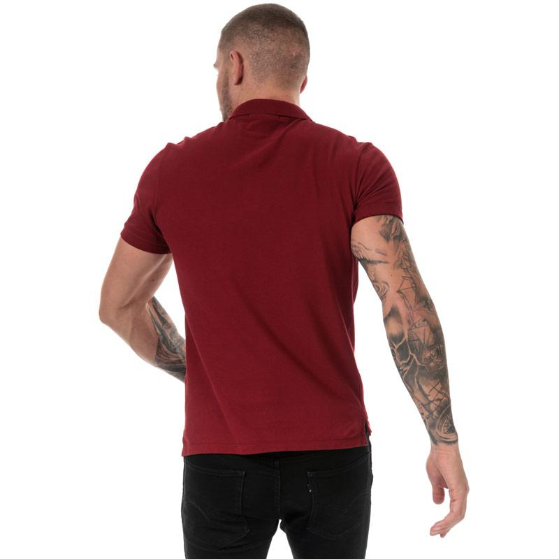 C.P. Company Mens Logo Polo Shirt Red