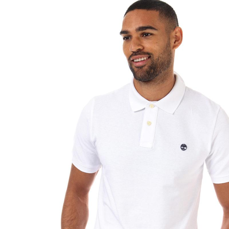 Timberland Mens Pique Polo Shirt White