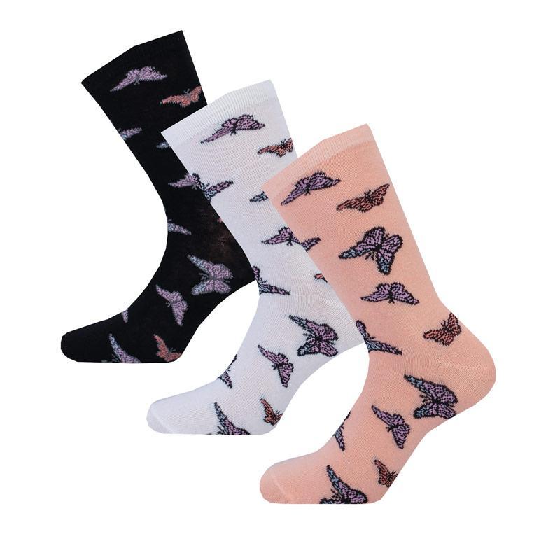 Ponožky Brave Soul Womens 3 Pack Butterfly Socks Multi colour