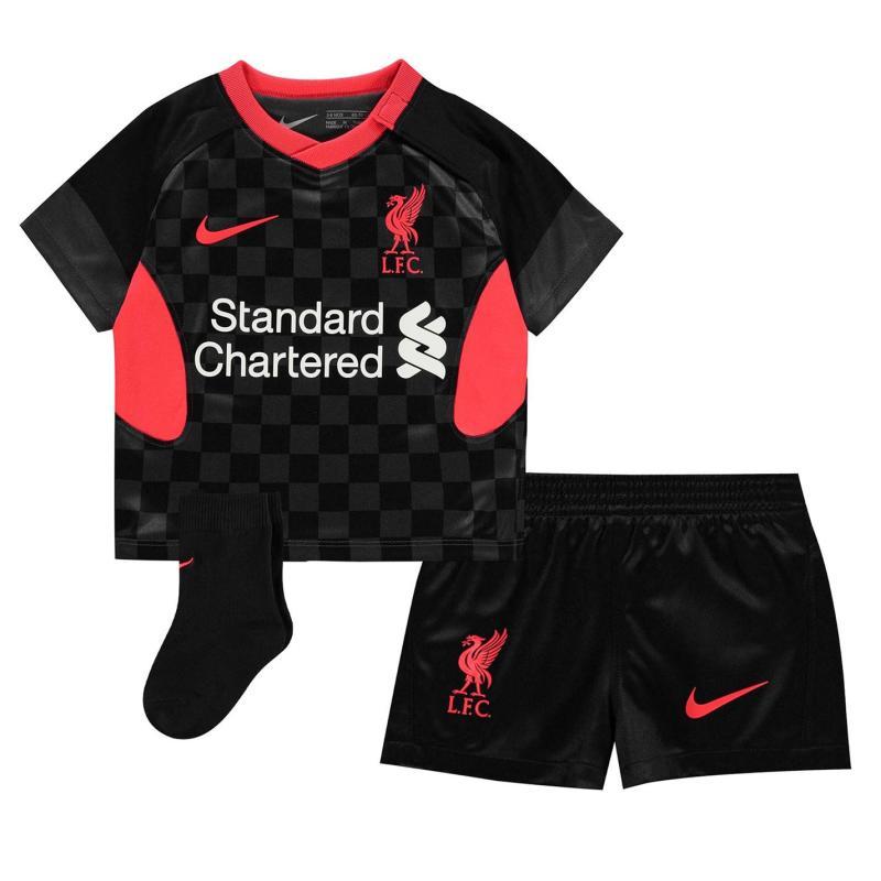 Nike Liverpool Third Baby Kit 2020 2021 ANTHRACITE/BLACK/LASER CRIMSON