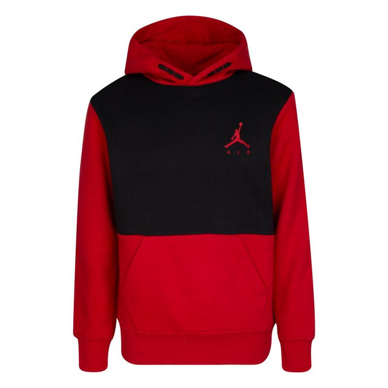 Mikina Air Jordan Hoodie Boys Black/Red