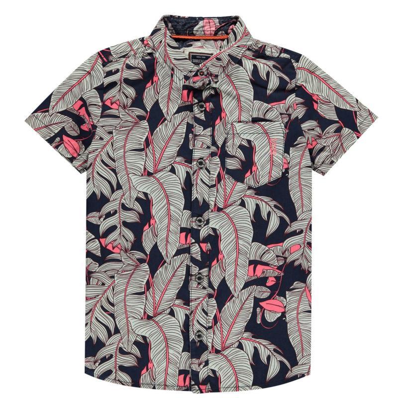 Košile SoulCal Short Sleeve Shirt Infant Boys Summer Fern