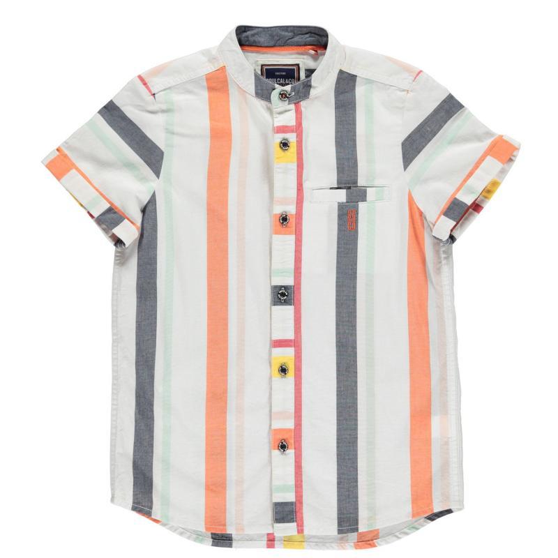 Košile SoulCal Short Sleeve Shirt Infant Boys Summer Stripe