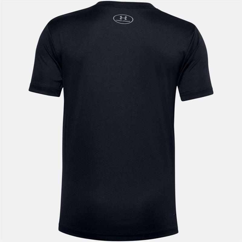 Under Armour Lockup T Shirt Junior Boys Black/White